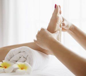 Massage des pieds pour domir